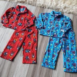 Thomas & Friends Button Down L/S Pajama Sets